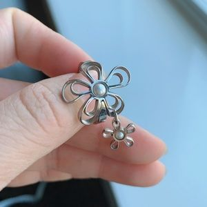 Swatch Bijoux Stainless steel pearl ring -RARE